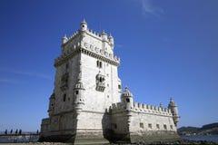 De toren van Belem in Lissabon Royalty-vrije Stock Afbeeldingen