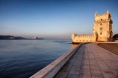 De toren van Belem in Lissabon stock fotografie