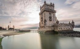 De Toren van Belem in Lissabon royalty-vrije stock foto's