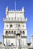De Toren van Belem in Lissabon Oude verdedigingsvesting in Lissabon stock afbeelding