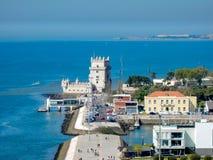 De Toren van Belem in Lissabon Portugal stock fotografie
