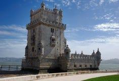 De Toren van Belem, Lissabon, Portugal Stock Afbeeldingen