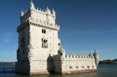 De Toren van Belem in Lissabon, Portugal Stock Afbeeldingen