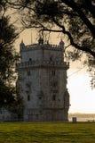 De Toren van Belem, Lissabon, Portugal Royalty-vrije Stock Afbeeldingen