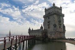 De Toren van Belem in Lissabon, Portugal stock fotografie