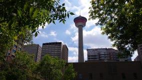 De Toren van Calgary Stock Afbeeldingen