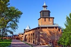 De toren van Chasovaya van Nizhny Novgorod het Kremlin stock afbeelding