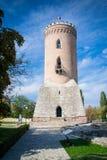 De toren van Chindia in Targoviste, Roemenië Stock Foto