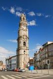 De toren van Clerigos in Porto (Portugal) royalty-vrije stock afbeeldingen