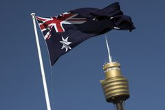 De Toren van de AMPÈRE, Sydney stock foto