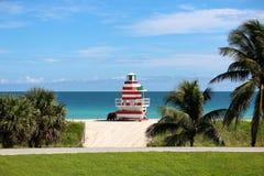 De Toren van de badmeester in het Strand van Miami Royalty-vrije Stock Foto's