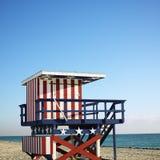 De toren van de badmeester in Miami Royalty-vrije Stock Afbeeldingen