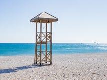 De toren van de badmeester op het strand Royalty-vrije Stock Foto