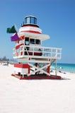 De Toren van de badmeester op het Strand van Miami Stock Fotografie