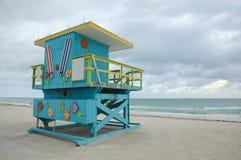 De Toren van de Badmeester van het Strand van het Zuiden van Miami Stock Fotografie