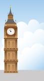De toren van de Big Ben en wolkenillustratie Royalty-vrije Stock Foto