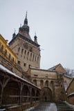 De toren van de citadel in een middeleeuwse citadel Stock Fotografie