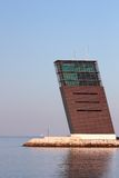 De toren van de controle bij rivier Tagus Royalty-vrije Stock Foto's