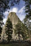 De Toren van de duivel in het Noorden - oostelijk Wyoming Royalty-vrije Stock Foto