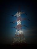 De toren van de elektriciteit Stock Afbeeldingen