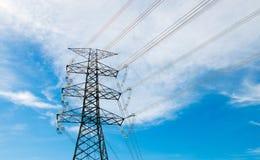 De toren van de elektriciteit Stock Foto's