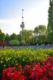 De toren van de Euromastobservatie voor 1960 Floriade, in Rotterdam speciaal wordt gebouwd dat Royalty-vrije Stock Afbeeldingen