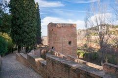 De Toren van de Gevangene in Alhambra Royalty-vrije Stock Fotografie