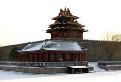 De Toren van de hoek van de Verboden Stad Stock Afbeeldingen