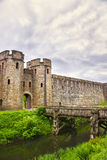De Toren van de ingangspoort aan het Kasteel van Cardiff in Cardiff in Wales royalty-vrije stock afbeeldingen
