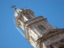 De toren van de kerk stock foto's