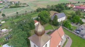 De toren van de kerk stock footage
