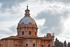 De Toren van de kerk in Rome, Italië Royalty-vrije Stock Foto