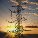 De toren van de macht in zonsondergang Stock Fotografie