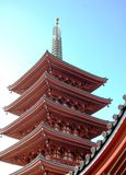 De Toren van de pagode in Asakusa stock afbeelding