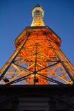 De Toren van de Petrinobservatie in Praag stock foto's