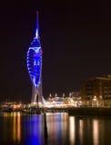 De Toren van de spinnaker bij nacht Royalty-vrije Stock Foto
