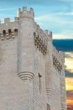De toren van de steen van Kasteel Penafiel, Stock Foto's