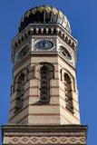 De toren van de Synagoge van Boedapest Stock Fotografie