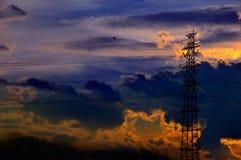 De Toren van de transmissie Royalty-vrije Stock Foto's