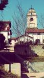 De Toren van de Urrugnekerk en Dorps Zuid-Frankrijk Europa Royalty-vrije Stock Afbeeldingen