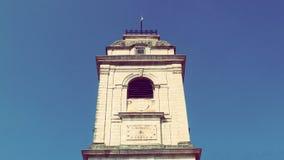 De Toren van de Urrugnekerk en Dorps Zuid-Frankrijk Europa Royalty-vrije Stock Fotografie