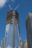 De Toren van de vrijheid in aanbouw Stock Foto's