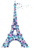 De toren van Eifel. vector illustratie