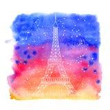 De Toren van Eiffel royalty-vrije illustratie