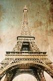 De toren van Eiffel - beeld in retro stijl Stock Foto