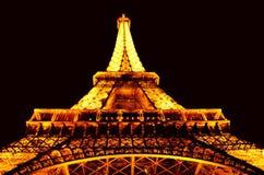De Toren van Eiffel bij nacht Stock Fotografie