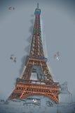 De toren van Eiffel bij schemer royalty-vrije stock foto's