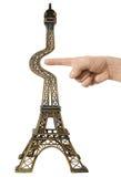 De toren van Eiffel. Concept Stock Foto