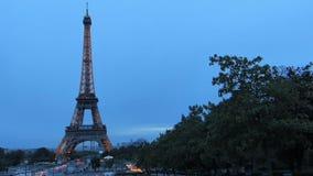 De Toren van Eiffel in de Stad van Parijs Frankrijk stock footage