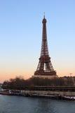 De Toren van Eiffel en de Zegen in Parijs Frankrijk royalty-vrije stock afbeelding
